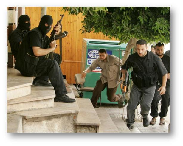 Palestinian terrorists operate tightly within populated areas.