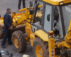 Attacking bulldozer in Jerusalem