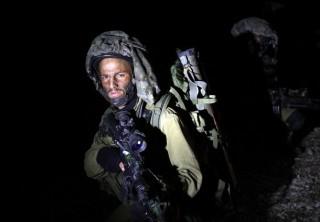 IDF Soldier at night