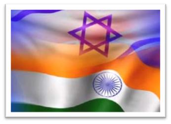 Indian and Israeli flags