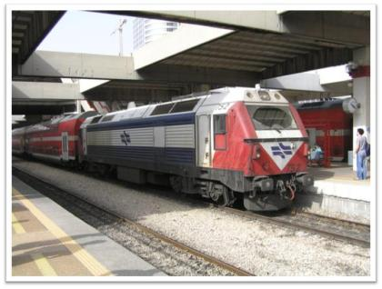 Israeli Railway Company's train