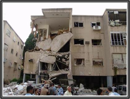 A building in Haifa, damaged during the 2006 Second Lebanon War