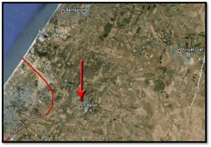 There is just 5km distance between Gaza and Sderot