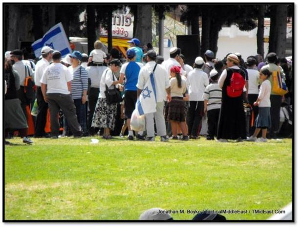 Demonstration by right wing activists in Sderot on April 12, 2009