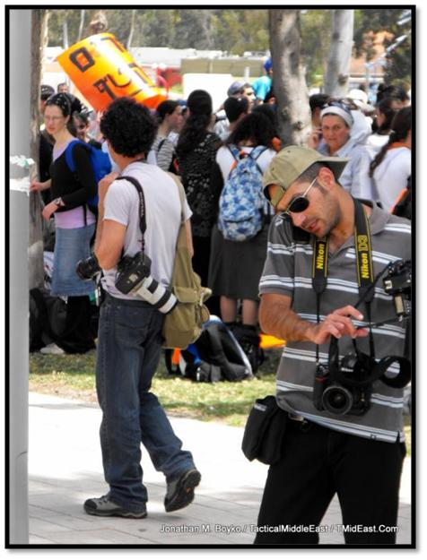 The press were there to cover the demonstration
