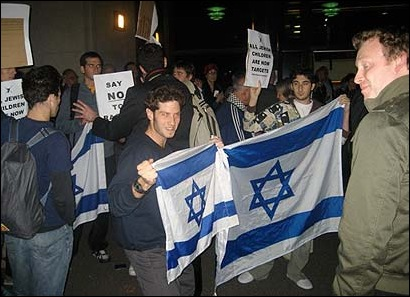 Jewish demonstrators in Melbourne, Australia (courtesy: Michael Board, Ynet)