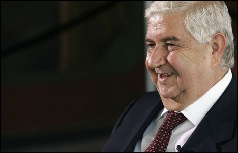 Foreign Minister Walid al-Muallem