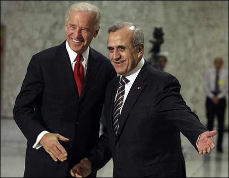 President Suleiman - Welcome to Lebanon, US Vice president Joe Biden