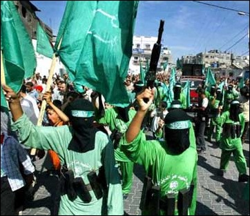 HAMAS demonstration in Gaza