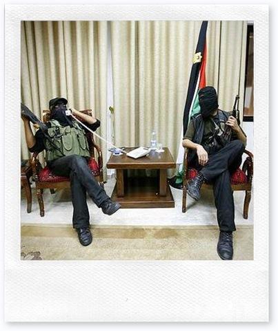 HAMAS gunmen resting in Gaza
