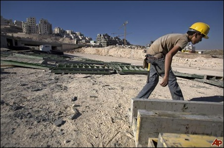 Palestinian construction worker (Photo: Associated Press)