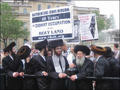 Ulta-Othodox Jews celebrating the Naquba. We know they do not want to live in Israel, but were do they want to go