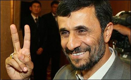 Mahmoud Ahmadinejad has every reason to be happy