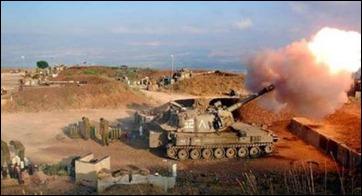 In 2006, an Israeli artillery firing into southern Lebanon