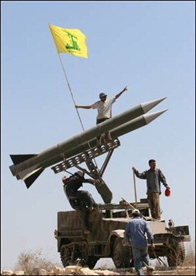 HizbAllah's rockets aimed at Israel. Waiting for next confrontation?