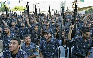 Hamas militants in Gaza