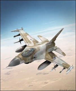 Since the Six Days War, the IAF are trained to fly up to 8 sorties a day - or more. IAF's F-16 jet.