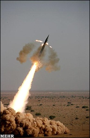 Iran launches its Fajar missile during exercise