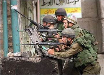 IDF soldiers confronting rioters