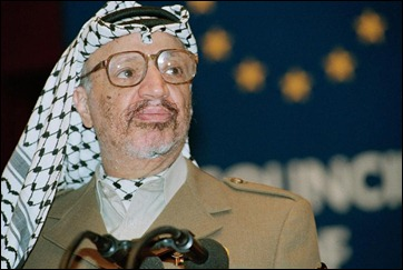 Arafat. Taking example from worst dictators, never shaved.