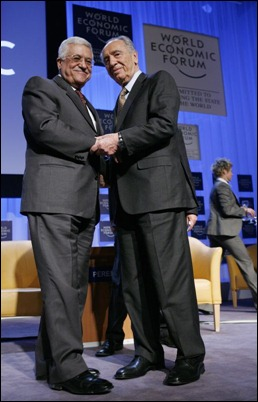 PA's Abbas and Israel's Peres. Partners in peace or in war?