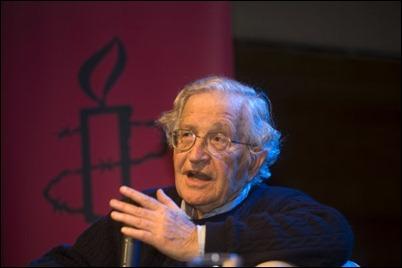 Noam Chomsky. An idiot, no doubt.