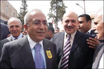 Palestinian PM Salam Fayyad in Bethlehem
