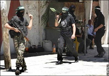 Hamas' cowardly soldiers roam the streets during peace, terrorizing own citizens, but run away when IDF attacks.