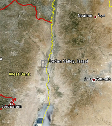 Jordan Valley (courtesy: Google)