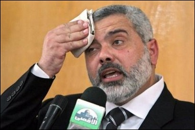 Feeling the pressure? Hamas' Haniyeh