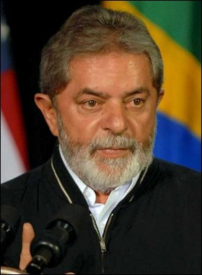 Brazil's Luiz Inacio Lula da Silva. Claimed the current crisis was created by white people with blue eyes.